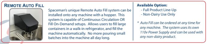 Frozen Beverage Auto Fill Pump